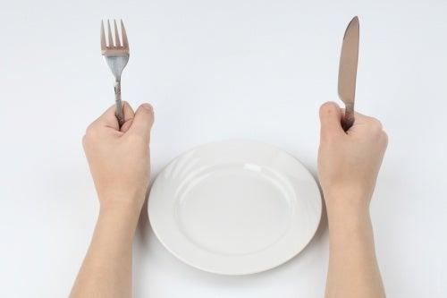 Mittagessen und Portionsgröße