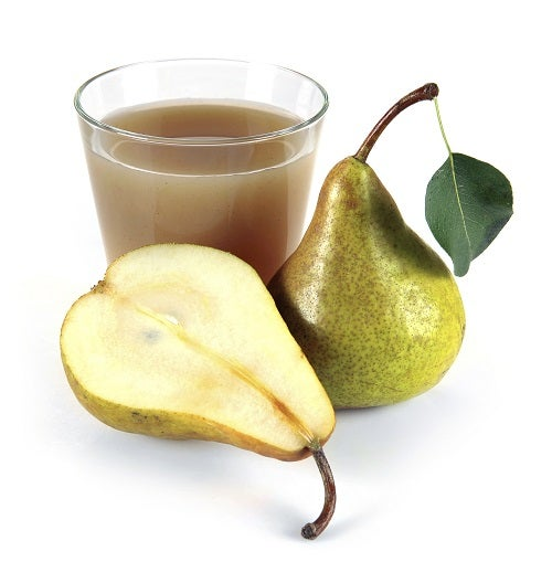 pear juice in a glass of fruit