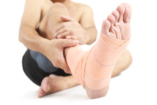 verletztr Fuß