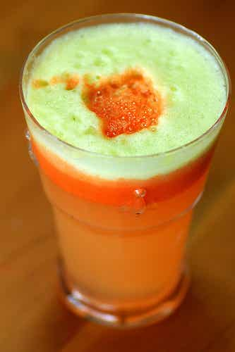 Karotten-Apfelsaft