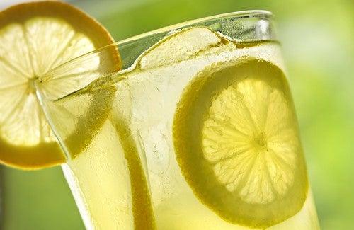 Lauwarmes Wasser mit Zitrone