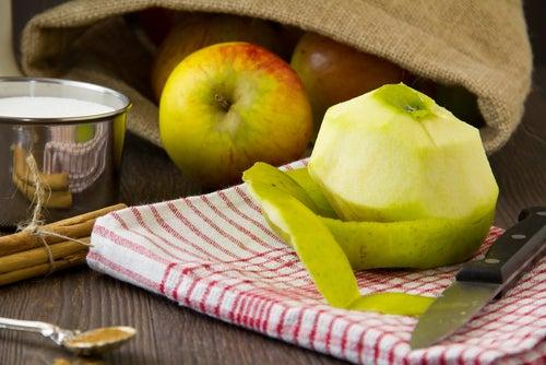 Manzana-piel