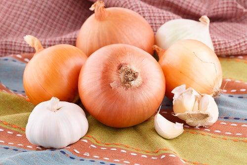 Zwiebel und Knoblauch als Hausmittel zur Behandlung von Bronchitis