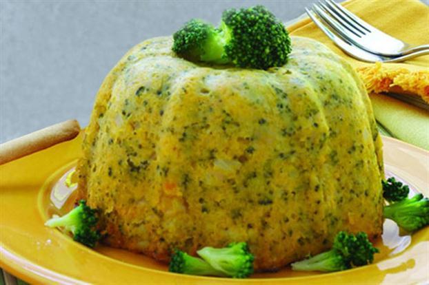 Budin aus Kürbis und Brokkoli