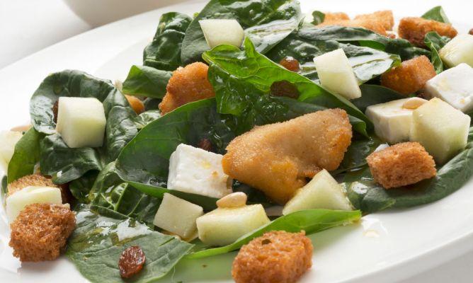 Geflügel-Spinat-Salat