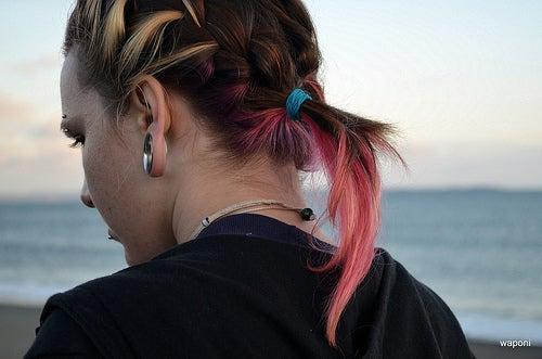 Haare-gefärbt