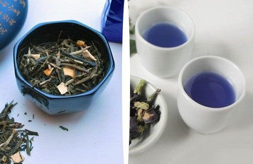 Oolong oder blauer Tee zum Abnehmen