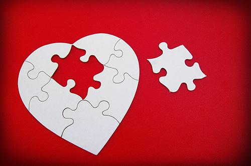 Dem Herzen fehlt ein Puzzlestück