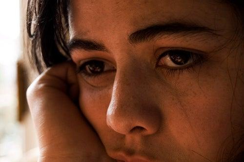 traurige Frau
