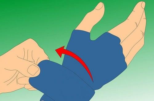 Druckhandschuhe gegen geschwollene Finger
