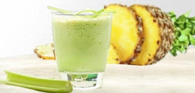 Sellerie und Ananas