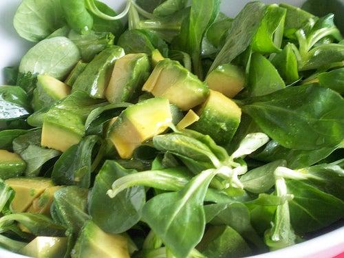 Avocado in Salat