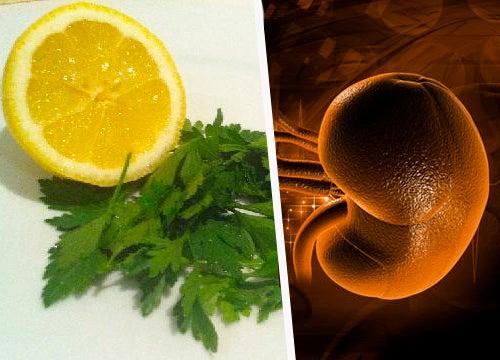 Petersilie und Zitrone zur Nierenreinigung