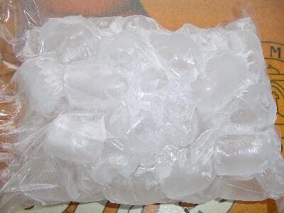 Eis als Heilmittel für Knieschmerzen