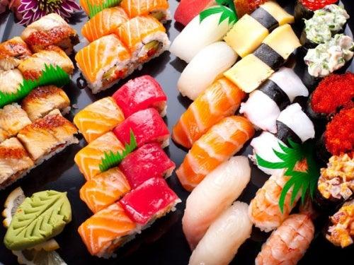 Sushi bunt variiert
