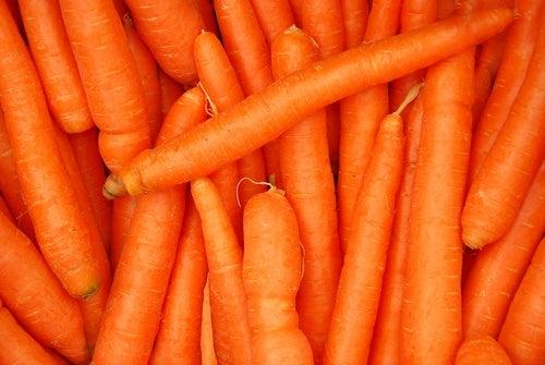Karotten nach dem Sport sind gesund