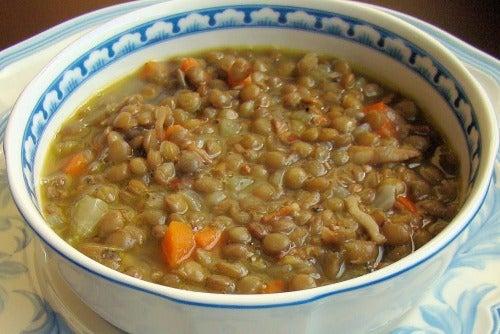 Suppen mit Linsen