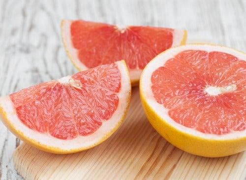 Grapefruit geschnitten