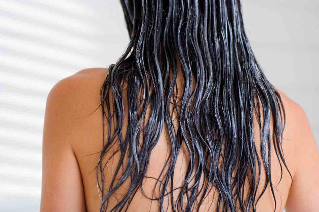 nasse Haare