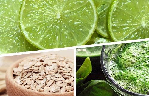 Spirulina, Hafer und Zitrone im Kampf gegen Kilos