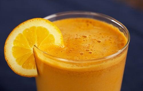 Orangensaft mit Kartoffeln