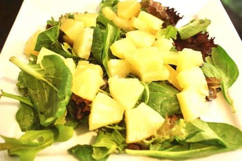 salat-spinat-ananas