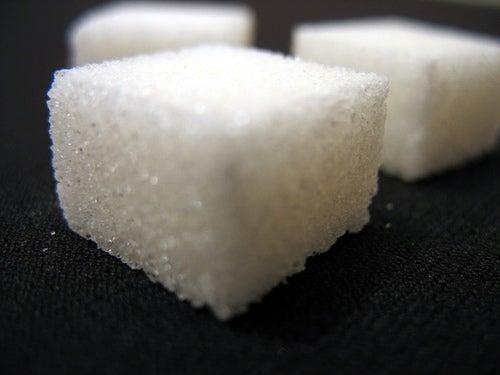 Zuckerwürfel in Großaufnahme