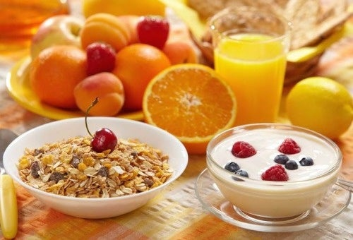 Gesundes Frühstück für ein langes Leben