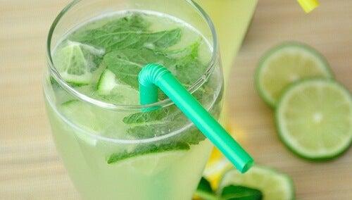 Zitronenminzwasser