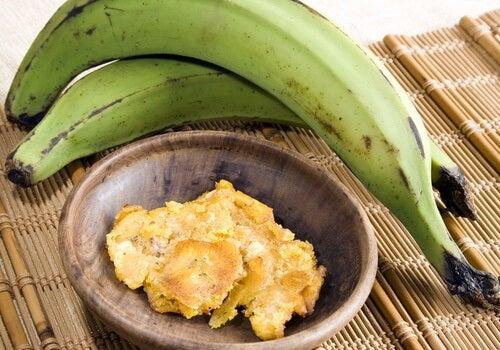 Grüne-Banane