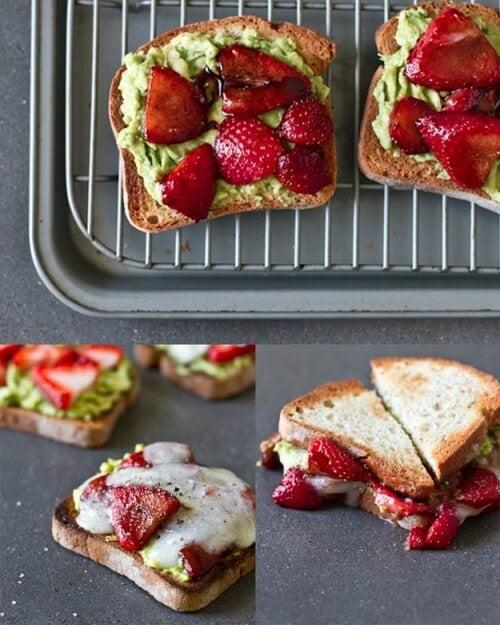 Avocado-Erdbeer-Aufstrich