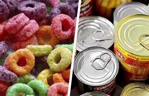 prozessierte Lebensmittel, Zucker und Alkohol
