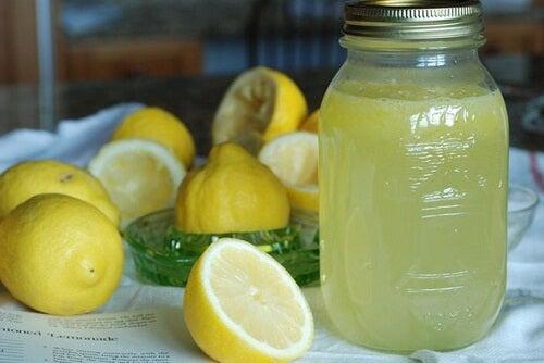 Getränk mit Zitrone zur Fettverdauung