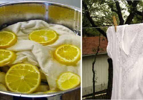Weiße Wäsche natürlich bleichen