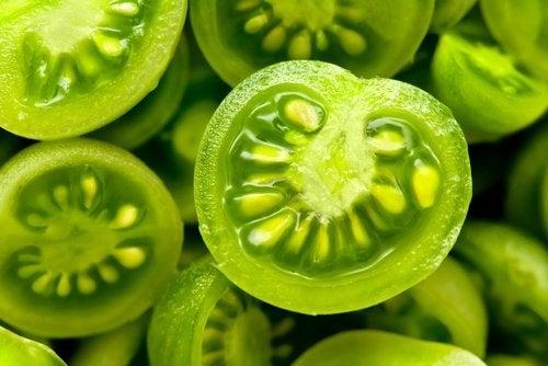Grüne Tomaten gegen Krampfadern