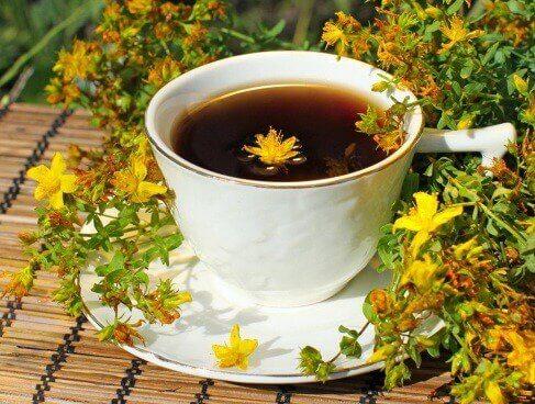 Johanniskraut-Tee zur Regulierung der Schilddrüse