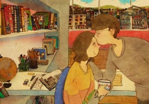 Kleine Liebesbeweise festigen die Beziehung