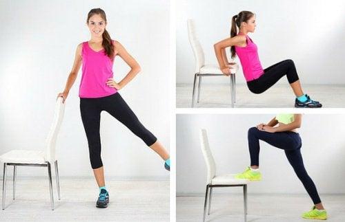Halte dich fit mit Stuhlgymnastik!