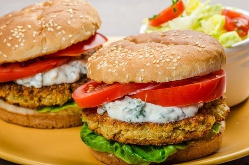 Vegetarischer Hamburger