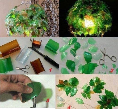 Flaschenlampe aus Plastikflaschen