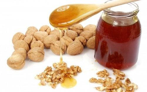 Honig, Walnüsse und Mandeln: eine wunderbare Kombination
