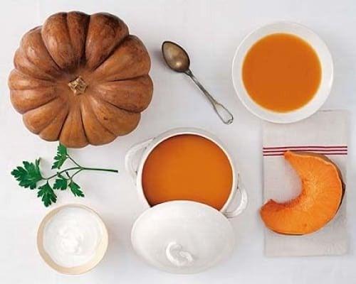 Kuerbissuppe mit Ingwer
