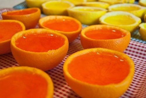 Orangen-Gelatine