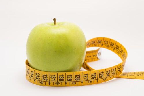 Apfel hat wenig Kalorien