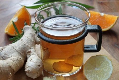 Heilmittel aus Zitrone und Ingwer