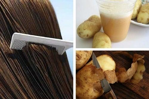 Kartoffelschalen für gesunde Haare