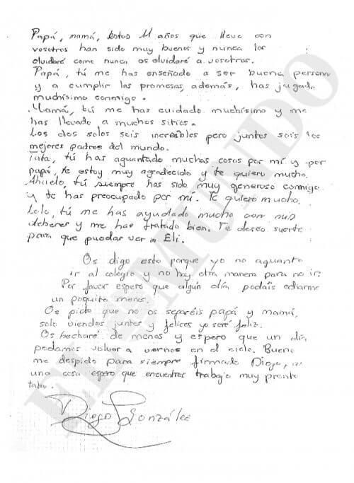 Brief von Diego - Bullying