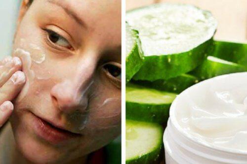 Zubereitung einer reinigenden Gesichtscreme aus Gurken
