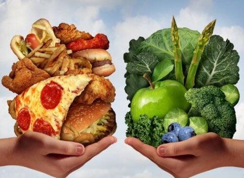 Gesunde Ernährung und Krankheit durch Übersäuerung