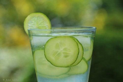 Wasser mit Gurken
